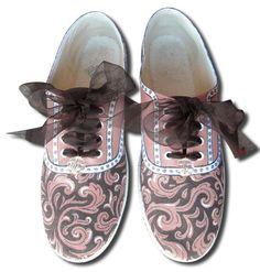 En la Marie Claire: *DAMASCO*, pintados a mano!!! - No-Ordinary-Stuff - Zapatillas de deporte