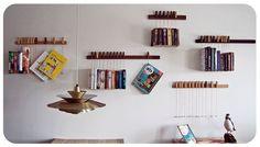 Custom made wooden book/magazine racks.