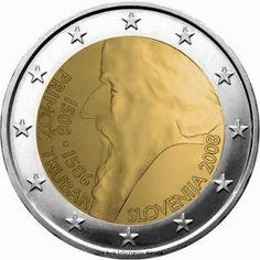 2 Euro Commemorative Coins: 2 euro Slovenia 2008, 500th anniversary of Primož Trubar's birth