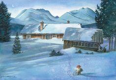 Kjell E.Midthun not for trade - maria-liisa Paksuniemi - Picasa-Webalben Scandinavian Gnomes, Scandinavian Christmas, Herge Tintin, Norwegian Christmas, Baumgarten, Kobold, Ligne Claire, Gnome House, Winter Pictures
