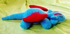Pokemon Sleepy Salamence Amigurumi (crochet)