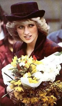 Diana greeting children at the opening of a new day care centre at the Cynthia Spencer Hospice at the Manfield Health Centre in Northampton