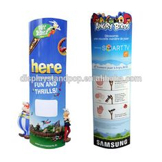 Custom automatically Pop up promotional Cardboard Totem Display Stand