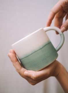 Excellent Cost-Free clay pottery mugs Suggestions Image of Green dream mug Ceramic Cups, Ceramic Pottery, Ceramic Art, Ceramics Pottery Mugs, Ceramic Studio, Stoneware Mugs, Pottery Courses, Pottery Store, Green Mugs