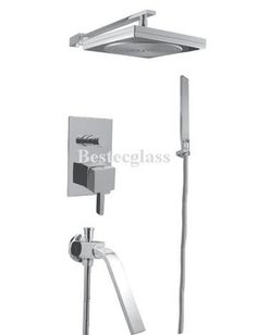 Square Rain Style Bath Wall Mounted Tub Shower Faucet | eBay