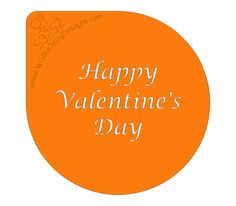 Stencil - Happy Valentine's Day - Just what is needed to remind your loved one what day it is! What Is Need, Happy Valentines Day, Stencils, Happy Valentines Day Wishes, Stenciling, Stencil, Sketches