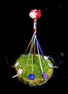 Hand crafted Maypole. Designed for Beltane May Day Altars. Pagan Wiccan Gift.