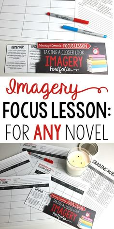 Focus Lesson   Imagery   Perfect for any novel or short story   Grades 6-12