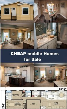 New mobile homes for sale at very cheap prices! CM3522D Home Cheap Mobile Homes, Mobile Homes For Sale, Buying A Mobile Home, Construction, Mansions, House Styles, Home Decor, Building, Decoration Home