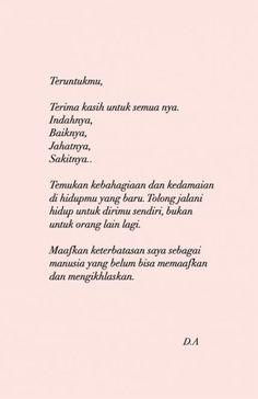 62 Ideas Quotes Indonesia Move On Quotes Rindu, Story Quotes, People Quotes, Words Quotes, Funny Quotes, Qoutes, Jodoh Quotes, Sabar Quotes, Cinta Quotes