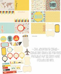 FREE Amy Teets' Designs: Free Printable Travel Journal Cards / Subscribe to Newsletters
