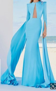 Prom Dresses Blue, Mermaid Prom Dresses, Bridesmaid Dresses, Chiffon Dresses, Lace Chiffon, Dresses Elegant, Pretty Dresses, Crystal Gown, Engagement Dresses