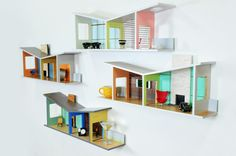 These Shelves Double As Mid-Century Modernist Dollhouses For Grown-Ups | Co.Design | business + design