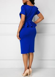 Dresses For Women African Lace Dresses, African Fashion Dresses, Cute Dresses, Casual Dresses, Corporate Attire, Bleu Royal, Royal Blue Dresses, Celebrity Outfits, Pretty Outfits