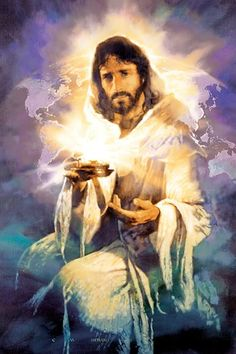 The Lord Jesus Christ, Yeshua, is the. 'Light of the World' by Michael Dudash Jesus Our Savior, Jesus Art, Jesus Is Lord, Jesus Reyes, Padre Celestial, Jesus Christus, Prophetic Art, Biblical Art, A Course In Miracles