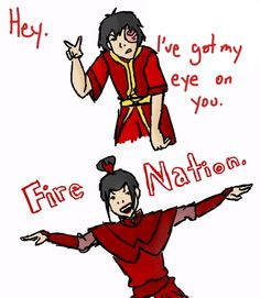 Zuko and Azula show some Fire Nation pride. Avatar The Last Airbender Funny, The Last Avatar, Avatar Funny, Avatar Airbender, Korra Avatar, Team Avatar, Legend Of Aang, Atla Memes, Prince Zuko