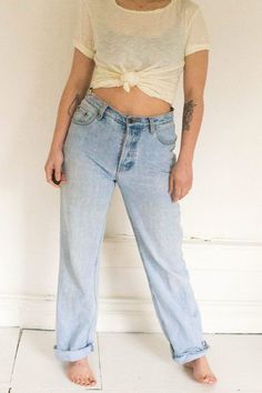Light Wash Vintage Levis 501s by Clementinesvintageco on Etsy