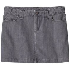 Patagonia Women's Denim Skirt ($69) ❤ liked on Polyvore