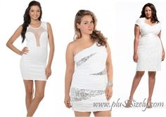 Plus size white club dresses – white dresses make women look fresh and natural, and white dresses are not the wrong choice to be chosen as clubbing dress Plus Size Nightclub Dresses, Looking For Women, Dress Making, Designer Dresses, One Shoulder Wedding Dress, White Dress, Wedding Dresses, Fashion, Bride Dresses