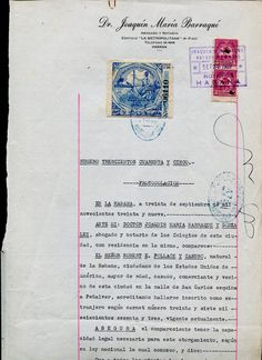 Jubilication Notarial stamp use on the document  (1939)