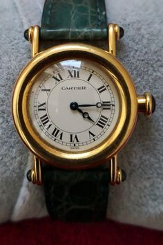 Cartier ladies gold wristwatch signed cartier, diablo model, ref. Old Watches, Swiss Army Watches, Seiko Watches, Watches For Men, Cartier Watches, Antique Watches, Fine Watches, Wrist Watches, Cartier Santos