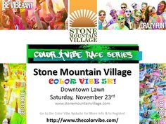 Color Vibe Fun Run To Be Held In Downtown Stone Mountain November 23, 2013