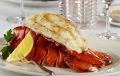 Jumbo Nova Scotia Lobster Tailwith fresh lemon and melted butterPin It