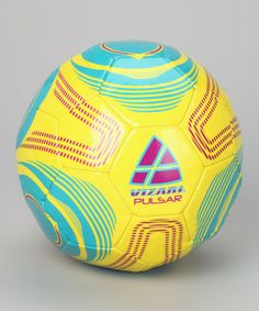 Look what I found on #zulily! Yellow & Blue Pulsar Soccer Ball #zulilyfinds