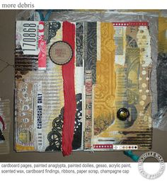 Original pinner sez: oooh... Michelle Ward's journal pages have me positively itching to work in my own journal!