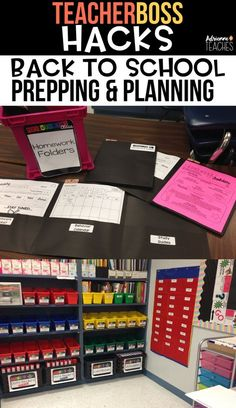 Prep and plan for back to school with these classroom organization tips and hacks #backtoschool #classroomorganization