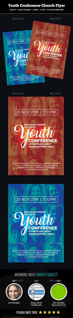 Youth Conference Church #Flyer - Church Flyers Download here:    https://graphicriver.net/item/youth-conference-church-flyer/20271808?ref=alena994