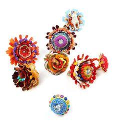 Yanli Duan Rings: To Tibet series, 2012 Textile, wool, aluminum, LED