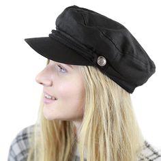 3e7f7376 Black Horn Unisex Cotton Greek Fisherman's Sailor Fiddler Hat Cap - Black -  C5187LRXRZK