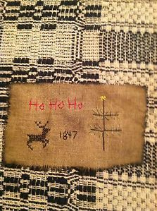 Primitive Sampler ~ Reindeer Stitchery~~~~ Christmas Tree ~ Free Shipping