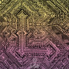 Lou Medel X ATC Artist Series. Letter L inspired by Codex http://www.loumedel.com/ https://www.etsy.com/shop/LouMedel