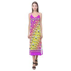 Happy And Merry Music V-Neck Open Fork Long Dress(Model D18)