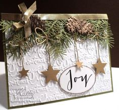 Stamps: PTI 		 		 		                                      Accessories: Memory Box stars, bough merri monday, christma joy, christma card, christma challeng, christmas, card christma, monday christma, paper crafts, card challeng
