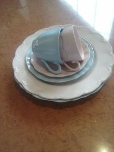 J G Meakin Retro Rosa AND Celeste Dinnerware 6 Pieces   eBay