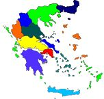 Map of Ελλάδα