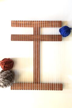 Become a weaving wonder! Make your own one-of-a-kind wall hanging with a loom from Wood Creek Looms.
