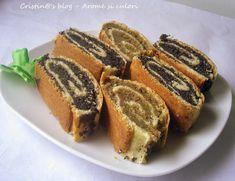 Baigli cu mac si nuca Romanian Desserts, Romanian Food, Romanian Recipes, Strudel, My Recipes, Dessert Recipes, Good Food, Yummy Food, Cakes And More