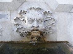 Fountain in the form of a Green Man in Miramare Castle, near Trieste, Italy (photo John W. Schulze)