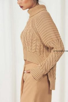 Дневник нэтэт : LiveInternet - Российский Сервис ОнРKnitwear Fashion, Knit Fashion, Sweater Fashion, Style Fashion, Chunky Knitting Patterns, Knitting Designs, Casual Sweaters, Sweaters For Women, Pullover Mode