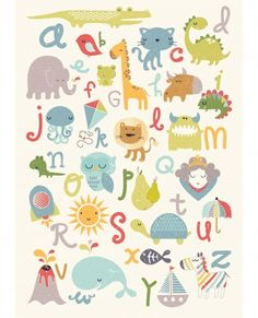 Alphabet Poster- A quirky A to Z