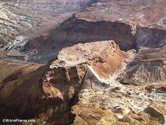 Masada aerial from northwest