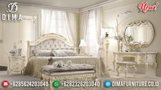 Harga Kamar Set Mewah Ukiran Luxury New White Duco Ivory Combination TTJ-0961