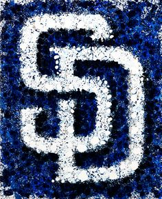 San Diego Padres Abstract Painting