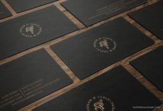 Logo + Brand Design for Tailor & Table :: Event Design Studio - Saffron Avenue : Saffron Avenue Logo Branding, Branding Design, Logo Design, Black Business Card, Business Cards, Event Logo, Avenue Design, Floral Event Design, Brand Board