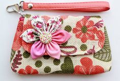 Super cute! This designer has lots of other wristlets in the same style but different colors    Orange Wristlet iPhone blackberry PROMOTION Buy 3 Get 1 by Noonew, $9.00
