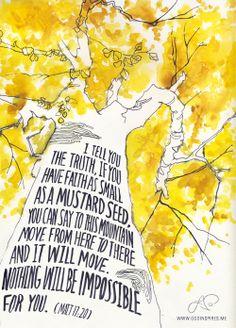 Matthew 17:20 - the art